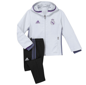 [해외][Order] 16-17 Real Madrid Boys Presentation Suit (Crystal White/Black/Super Purple) - KIDS