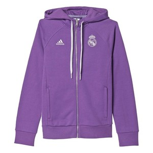 [해외][Order] 16-17 Real Madrid  3 Stripe Hood Zip - Ray Purple/Crystal White