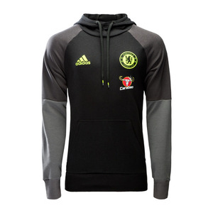 [해외][Order] 16-17 Chelsea(CFC) Hooded Sweat - Black/Granite/Solar Yellow