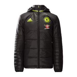 [해외][Order] 16-17 Chelsea(CFC) Padded Jacket - Black/Granite/Solar Yellow
