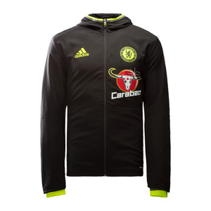 [해외][Order] 16-17 Chelsea(CFC) Presentation Jacket - Black/Granite/Solar Yellow