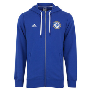 [해외][Order] 16-17 Chelsea(CFC)  3 Stripe Hooded Zip - Chelsea Blue/White