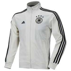 [해외][Order] 16-17 Germany (DFB) 3 Stripe Track Top - White/Solid Grey