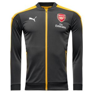 [해외][Order] 16-17 Arsenal Boys Stadium Jacket With Sponsor (Ebony/Spectra Yellow) - KIDS