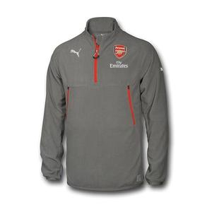 [해외][Order] 16-17 Arsenal Training Fleece With Sponsor - Steel Gray