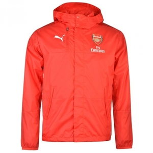 [해외][Order] 16-17 Arsenal Boys Lightweight Rain Jacket With Sponsor With Hood (High Risk Red) - KIDS