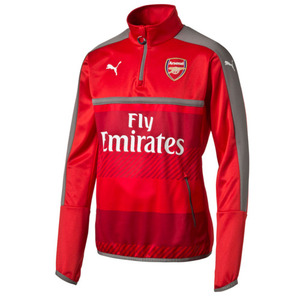 [해외][Order] 16-17 Arsenal Boys Training Top With Sponsor (High Risk Red/Steel Gray) - KIDS