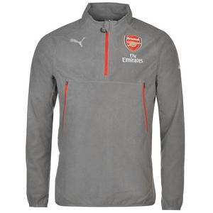 [해외][Order] 16-17 Arsenal Boys Fleece With Sponsor(Steel Gray) - KIDS