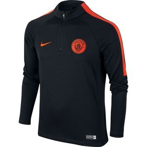 [해외][Order] 16-17 Manchester City Boys Drill Top Squad (Black/Team Orange/Team Orange) - KIDS