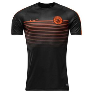 [해외][Order] 16-17 Manchester City Top SS Squad CL - Black/Team Orange/Team Orange