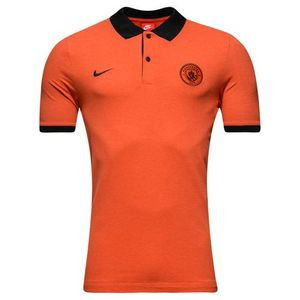[해외][Order] 16-17 Manchester City NSW GSP Polo Shirt - Orange Heather/Black/Black