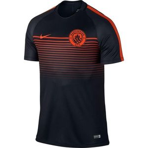 [해외][Order] 16-17 Manchester City Boys Top SS Squad (Black/Team Orange/Team Orange) - KIDS