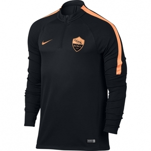 [해외][Order] 16-17 AS Roma Boys Dril Top Squad (Black/Peach Cream/Peach Cream) - KIDS