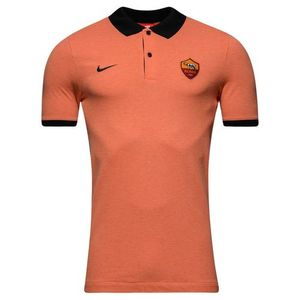 [해외][Order] 16-17 AS Roma SS Squad Polo Shirt - Peach Cream/Black
