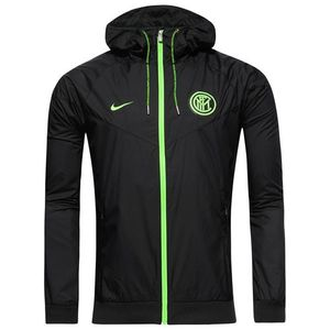 [해외][Order] 16-17 Inter Milan NSW Woven Authentic Jacket - Black/Electric Green
