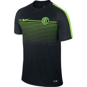 [해외][Order] 16-17 Inter Milan Boys Top SS Squad CL (Black/Electric Green/Electric Green) - KIDS