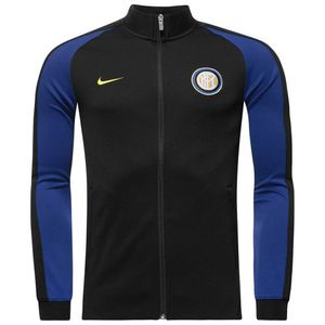[해외][Order] 16-17 Inter Milan Authentic N98 Track Jacket - Black/Deep Royal Blue/Opti Yellow