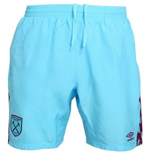 [해외][Order] 16-17 West Ham United Woven Shorts - Bluefish/New Claret