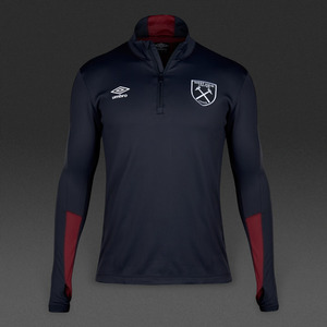 [해외][Order] 16-17 West Ham United Half Zip Top - Galaxy/New Claret