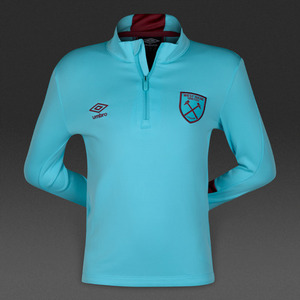 [해외][Order] 16-17 West Ham United  Boys Half Zip Top (Bluefish/New Claret) - KIDS