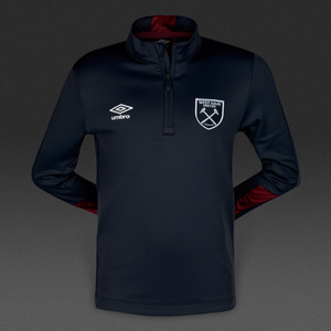 [해외][Order] 16-17 West Ham United  Boys Half Zip Top (Galaxy/New Claret) - KIDS