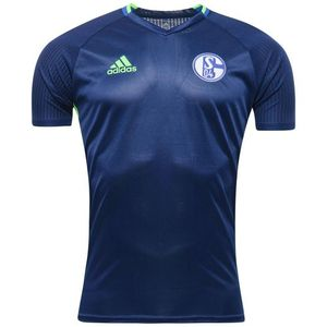 [해외][Order] 16-17 Schalke 04 Training Jersey - Dark Blue/Solar Green