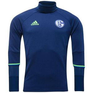 [해외][Order] 16-17 Schalke 04 Training Top - Dark Blue/Solar Green