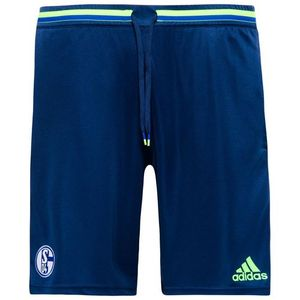 [해외][Order] 16-17 Schalke 04 Training Shorts - Dark Blue/Solar Green