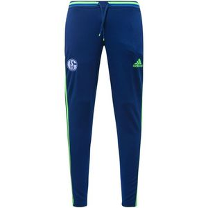 [해외][Order] 16-17 Schalke 04 Training Pant - Dark Blue/Solar Green