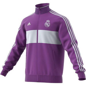 [해외][Order] 16-17 Real Madrid  3 Stripe Track Top - Ray Purple/Crystal White