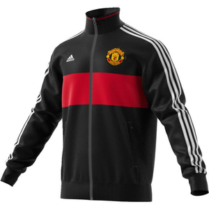 [해외][Order] 16-17 Manchester United 3 Stripe Track Top - Black/Real Red/White