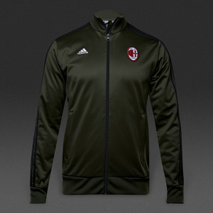 [해외][Order] 16-17 AC Milan 3 Stripe Track Top - Night Cargo/Black
