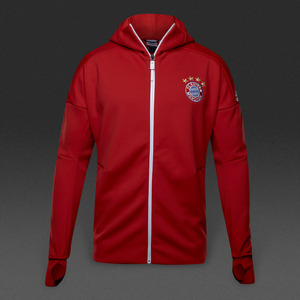 [해외][Order] 16-17 Bayern Munchen Anthem ZNE Hoody Jacket - True Red/White