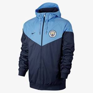 [해외][Order] 17-18 Manchester City Authentic Woven Windrunner - Midnight Navy/Field Blue/Midnight Navy