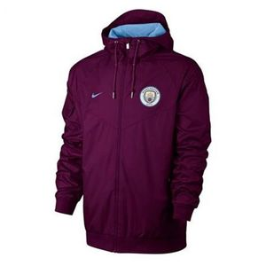 [해외][Order] 17-18 Manchester City Authentic Woven Windrunner -True Berry/Field Blue/Field Blue