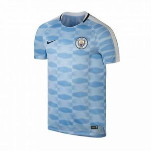 [해외][Order] 17-18 Manchester City Squad Pre-Match Training Top - Light Blue