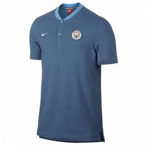 [해외][Order] 17-18 Manchester City Authentic Grand Slam Polo Shirt - Blue