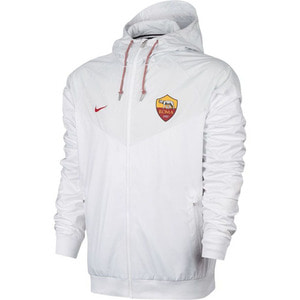 [해외][Order] 17-18 AS Roma Authentic Woven Windrunner Jacket - White