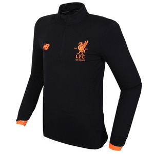 17-18 Liverpool Elite Training MID-Layer Top - Black