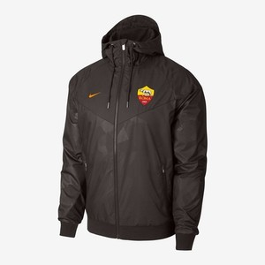 [해외][Order] 17-18 AS Roma  Authentic Woven Windrunner Jacket - Velvet Brown/Vivid Orange