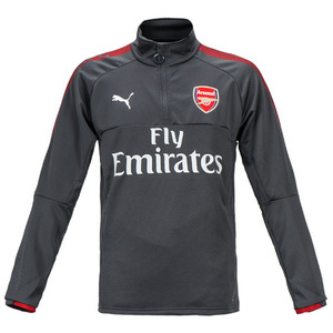 17-18 Arsenal 1/4 Training Top - Grey