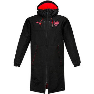 17-18 Arsenal CUP Long Bench Jacket - Puma Black/Bright Plasma