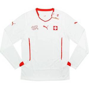 [Order] 14-15 Switzerland Player Issue Away L/S (Pro Fit) - Authentic