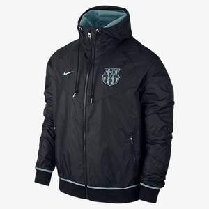 15-16 Barcelona Authentic Wind Runner Jacket - Black/Light Current Blue