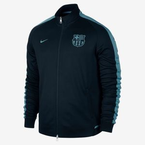15-16 Barcelona Authentic N98 Track Jacket - Black/Light Current Blue
