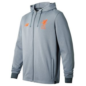 [해외][Order] 17-18 Liverpool Elite Travel Hoody Jacket- Gun Metal