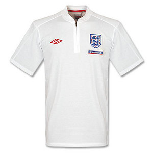 09-11 England Home After Match Cotton Polo - White