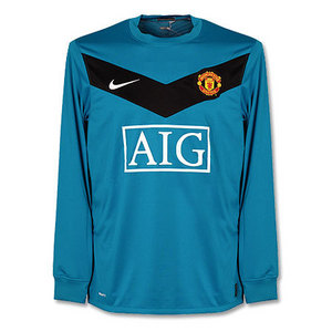 09-10 Manchester United Goalie(Teal/Black)