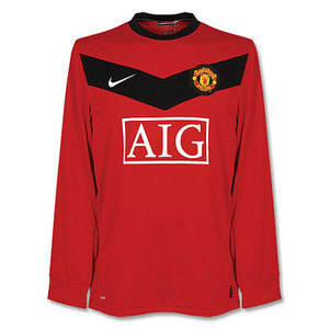 09-10 Manchester United Home L/S