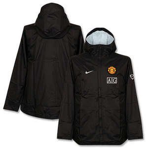 09-10 Manchester United Boys Rain Jacket - Black